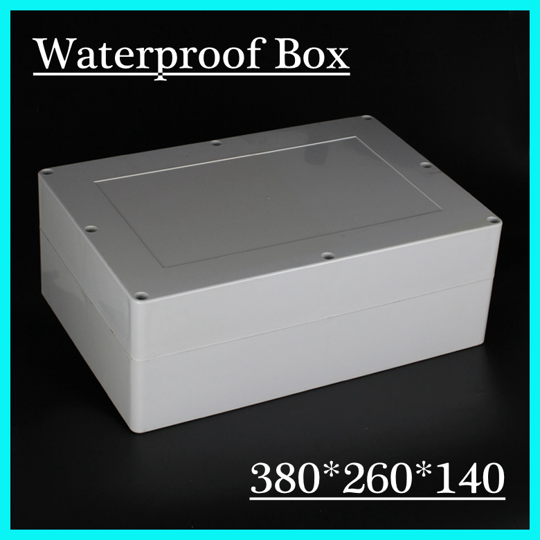 380*260*140mm Waterproof Sealed Enclosure Case DIY Junction Box surface mounted plastic sealed electric junction box case 230x126x80mm