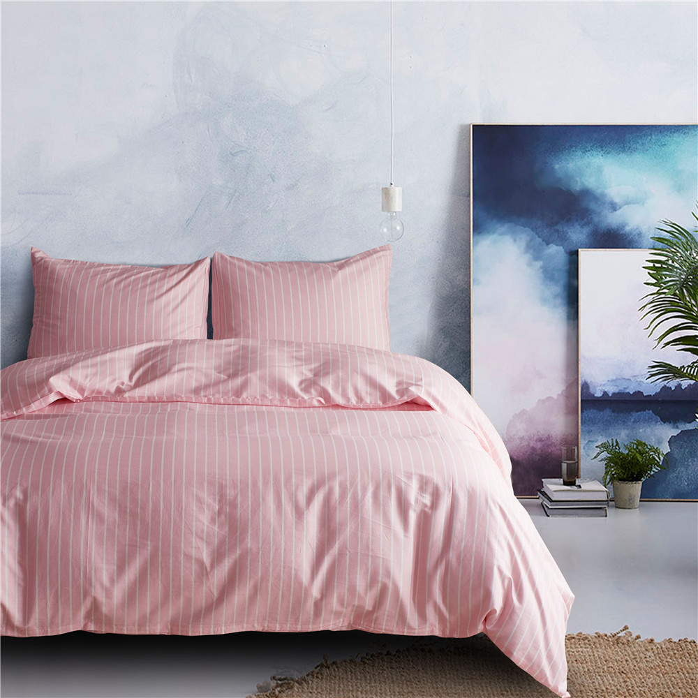 100% Cotton Luxury Bedding Set Stripe Duvet Covers Pillowcases Twin Queen King Comforter Bedding Bed Sets Bedclothes Bed Linen