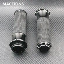 """Motorfiets Grips Black 1 """"Voor Harley Handvat Grips Elektronische Model Moto Accessoires Aluminium"""