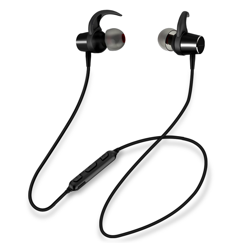 IPX 4 waterproof headset Sowak F1 intelligent magnetic switch Bluetooth 4.1 Wireless moving aptX stereo headset with MIC phone