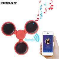 LED Light Fidget Spinner Bluetooth Speaker Audio Call Music Hand Spinner 5 Patterns Anti Stress Chargeable