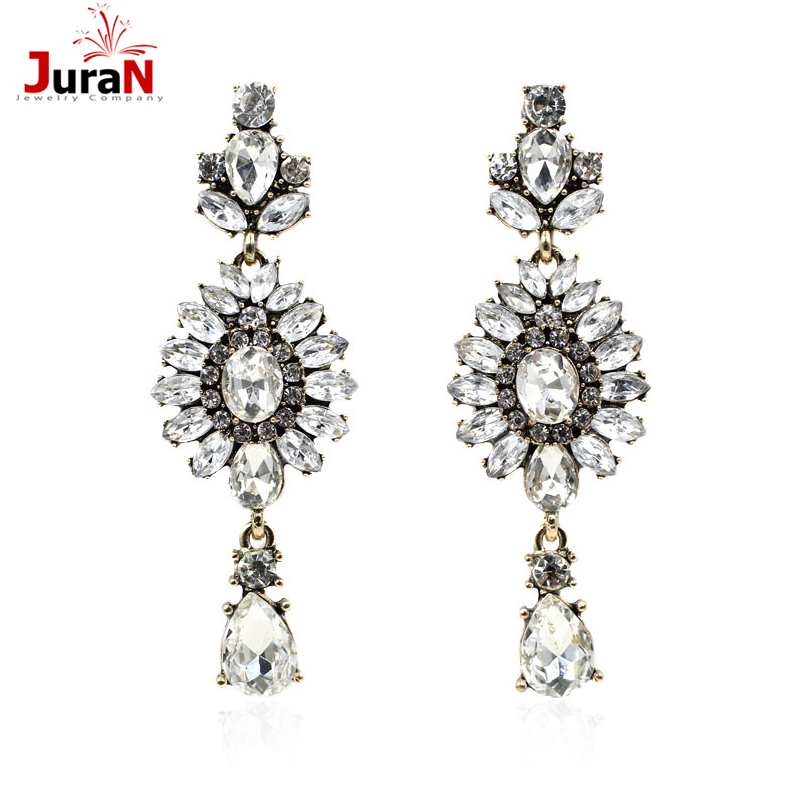 JURAN Full Crystal Earring New 2018 Fashion Earing Jewelry Hot Sale Crystal Earrrings For Women Statement Stud Earings R2203 ...