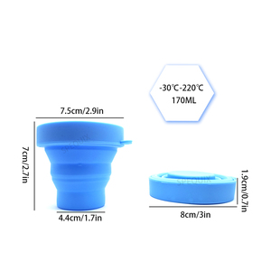 Image 3 - 100PCS סיטונאי וסת חיטוי כוס מתקפל סיליקון גמיש Esterilizador דה Copas Menstruales סיליקון נרתיק כוס