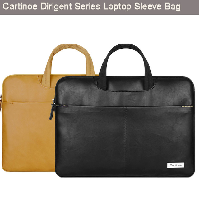 Cartinoe Stylish Pu Leather Laptop Bag Sleeve Carrying Case Cover HandBag Briefcase for Apple Macbook Air 13/ Pro 15 inch Retina