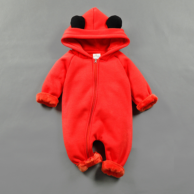 Winter Warm Baby Romper Long Sleeve Infant Cotton Kids Jumpsuit Boys Girls Animal Overall Menino Menina Baby Hooded Rompers sr118 baby rompers 2016 spring newborn cotton pajamas clothes bebe long sleeve hooded romper infant overall boys girls jumpsuit