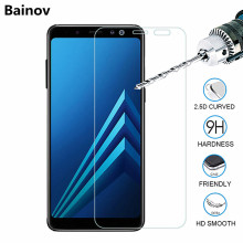 Screen protector glass on samsung A5 A6 A7 A8 2018 tempered glass for Samsung galaxy A3 A5 A7 2016 2017 protective glass film(China)