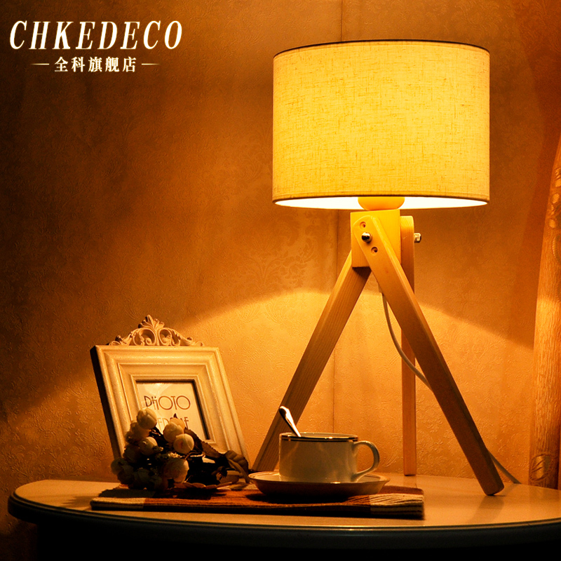 conciso moderno del escritorio de la lmpara de cabecera del dormitorio de madera de corea del