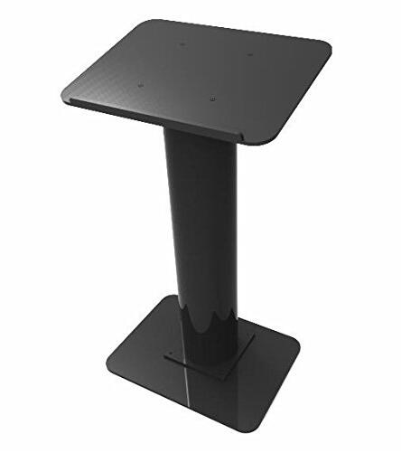 Free Shipping Hot Sell Fixture Displays Podium Black Acrylic Pulpit Lectern  Assembly Required