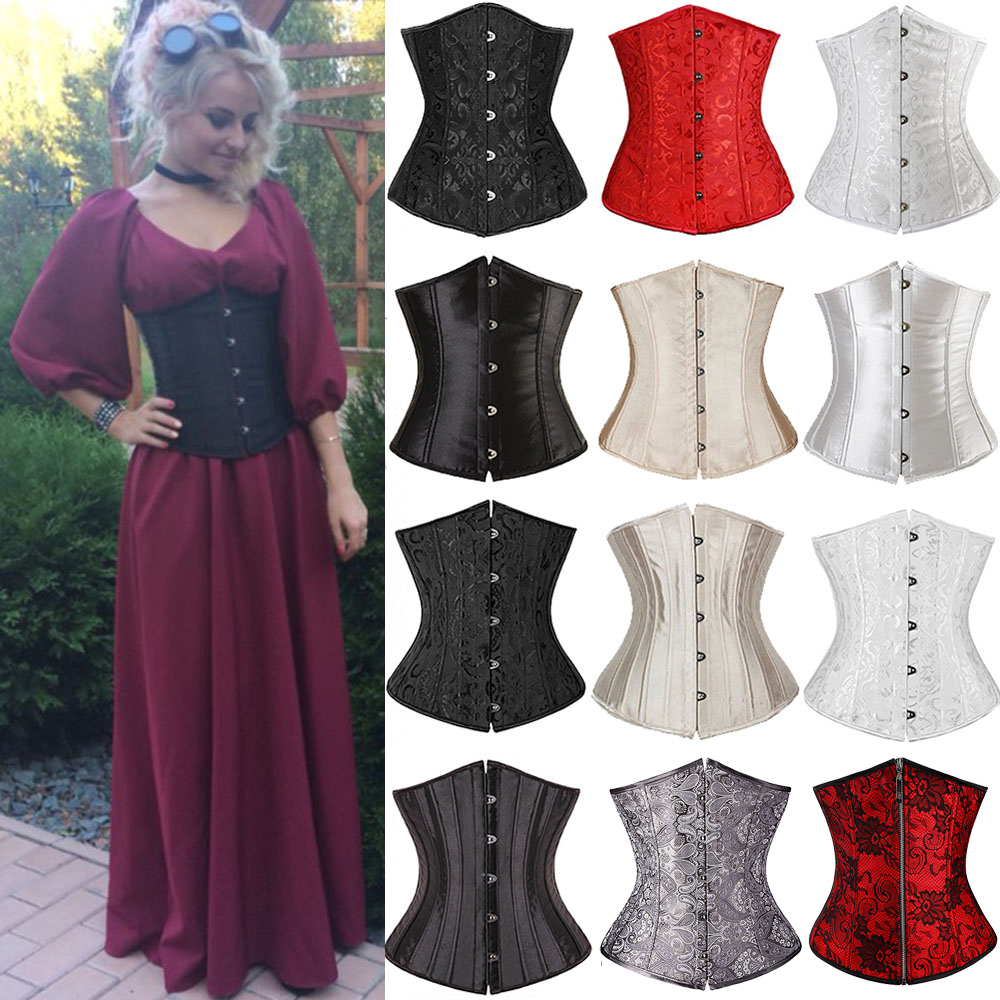US $6.48 6% OFF|X Women Sexy Corset Underbust Waist Cincher Corsets Black White Red Gothic Corset Top Bustier Plus Size Corpete Corselet S 6XL-in Bustiers & Corsets from Underwear & Sleepwears on AliExpress - 11.11_Double 11_Singles