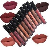 2017 New Women Makeup Waterproof Batom Tint Lip Gloss Red Velvet True Brown Batom Matte Lipstick Easy to wear Long Lasting