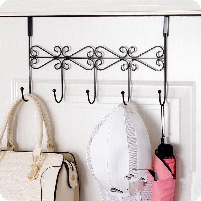 Creative Iron Door Creative Hook Hangers Coat Hooks Hanging Storage Rack  For Cloth Hat