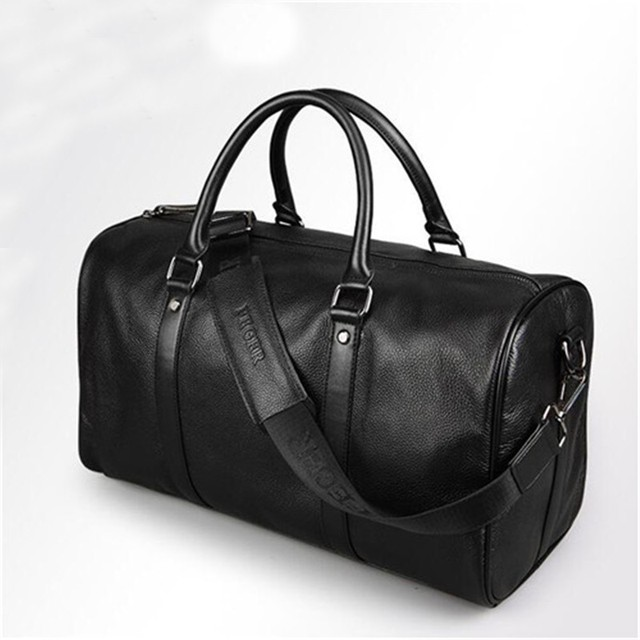 High Quality Travel Bag Genuine Leather Large Capacity Men Bags Luggage Weekend Duffle Suitcase Mens