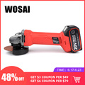 WOSAI 20V Electric Lithium Battery Cordless Angle Grinder Grinding Machine Polishing Cutting Grinding Sanding Wax Power Tools