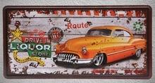 1 pc Car antique liquor gasoline mechanic plaques Tin Plates Signs Brussel wall man cave Decoration Metal Art Vintage Poster стоимость