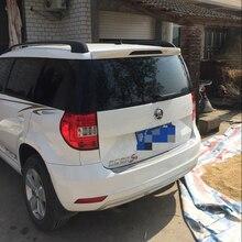 Спойлер для Skoda Yeti 2013 авто украшение в виде хвостового крыла ABS пластик Неокрашенный Грунтовка задний багажник спойлер на крышу