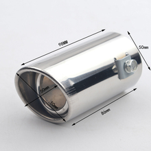 Inner 50mm Car Exhause Muffler Stainless Steel Pipe Modified Rear Tail Throat Liner Accessories