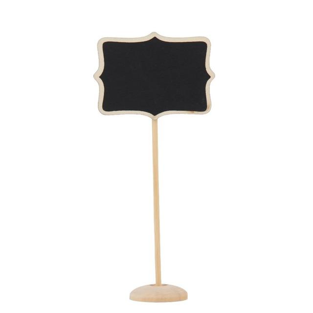 12Pcs/lot Wedding Decoration Mini Chalkboard Blackboard Seat Stand Wedding Lolly Heart Retangle Pattern Party Tags