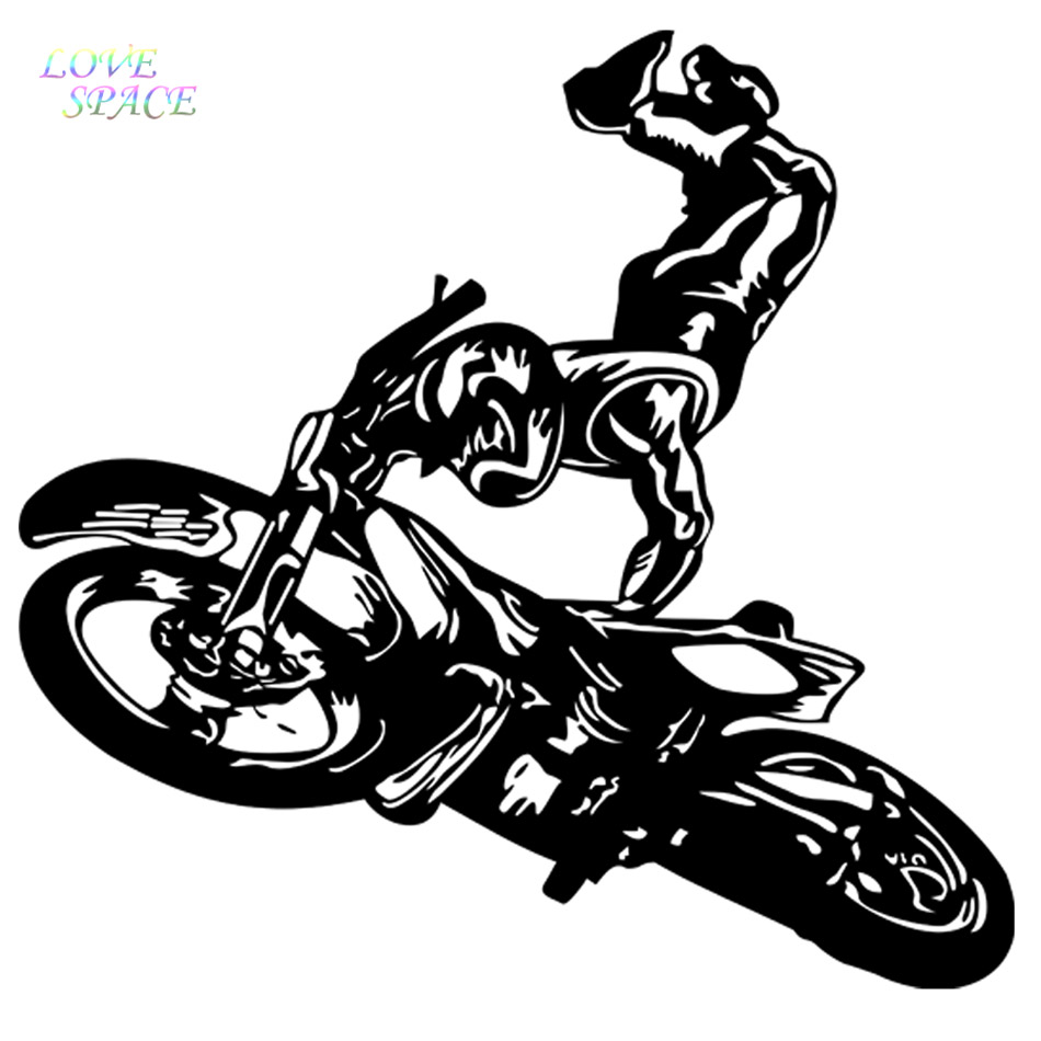 2017 Hot Cartoon Wall Decal Sticker Vinyl Motocross Tribal