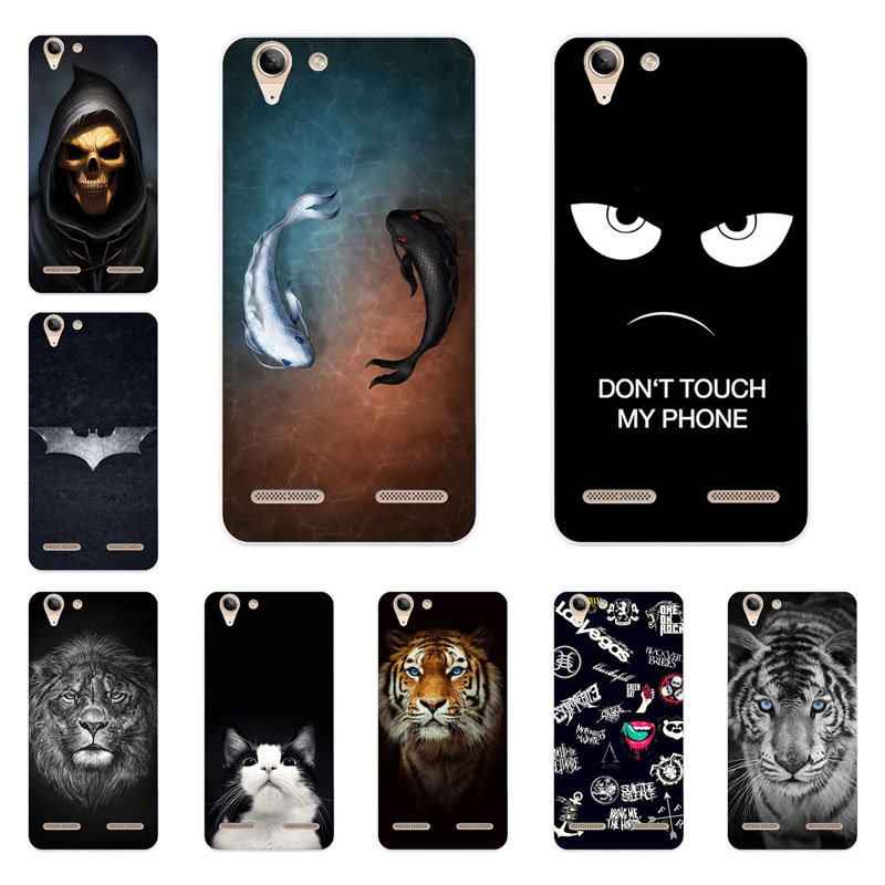 lenovo vibe k5 case,Silicon Gossip fish Painting Soft TPU Back Cover lenovo vibe k5 plus protect Phone shell