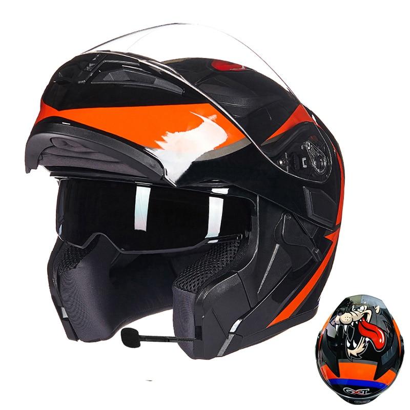 Image 4 - GXT Motorcycle Protective Gears Helmets ECE dot for waterproof bluetooth helmet casque moto Washed Inner Flip Up MOTO helmet-in Helmets from Automobiles & Motorcycles