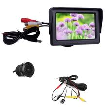 Car Monitor 4.3 Inch HD TFT LCD Screen Colorful Display Anti-glare + Waterproof/Night Vision CMD Reversing Camera