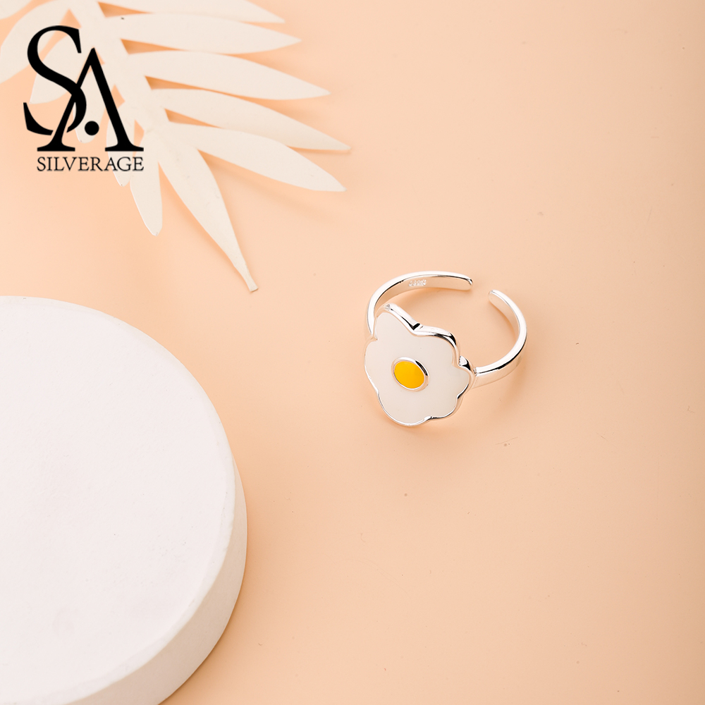 Ladies Gift 925 Sterling Silver Egg Rings Hungry Fashion Women Men Personality Open Knuckle Finger Rings Flowers Adjustable 2019Ladies Gift 925 Sterling Silver Egg Rings Hungry Fashion Women Men Personality Open Knuckle Finger Rings Flowers Adjustable 2019