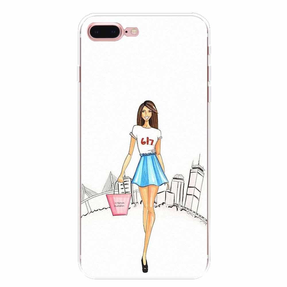 fashion Dress Shopping Girl For Xiaomi Redmi 4 3 3S Pro Mi3 Mi4 Mi4i Mi4C Mi5 Mi5S Mi Max Note 2 3 4 Silicone Phone Shell Cover