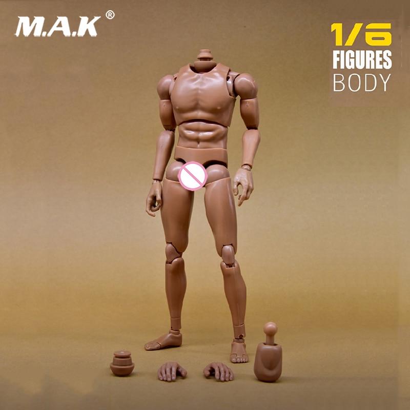 1:6 Escala Figura de Ação Do Corpo Nu Masculino ombro Estreito Musculares Do Corpo Modelo de Acessório para 12