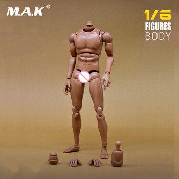 """1:6 Escala Figura de Ação Do Corpo Nu Masculino ombro Estreito Musculares Do Corpo Modelo de Acessório para 12 """"Dragão Figura de Ação Brinquedo"""