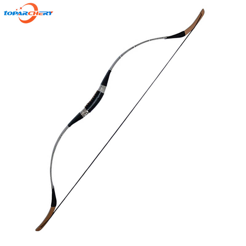 Chinese Handmade Recurve Bow 40lbs 45lbs 50lbs Wooden Longbow for Achery Wooden Arrows Hunting Shooting Training Sport Games