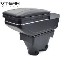 Vtear для peugeot 208 подлокотник коробка центральный магазин содержание коробка продукты интерьер подлокотник хранение автомобиля-Стайлинг Аксессуары запчасти