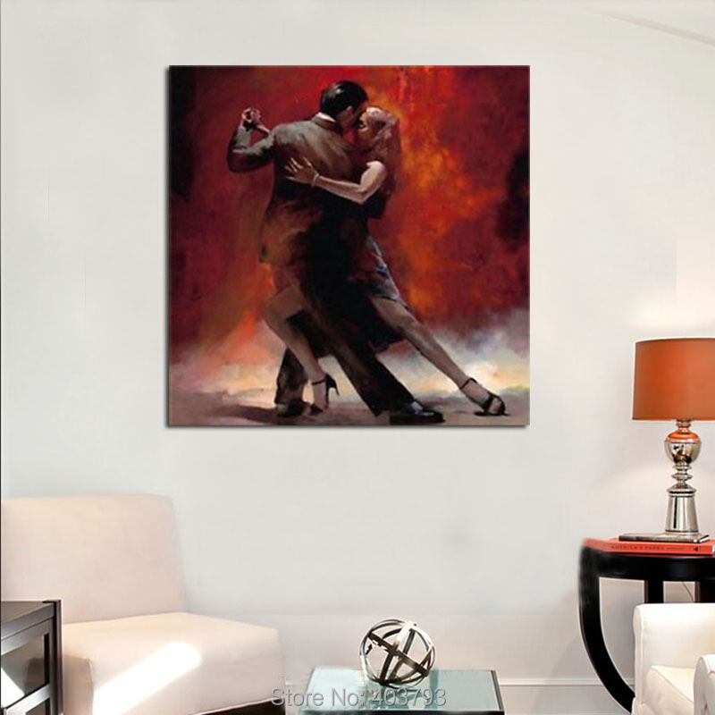 New Modern Vintage Art Oil Paintings Painting Canvas Lover Tango Dance no frame home decoration