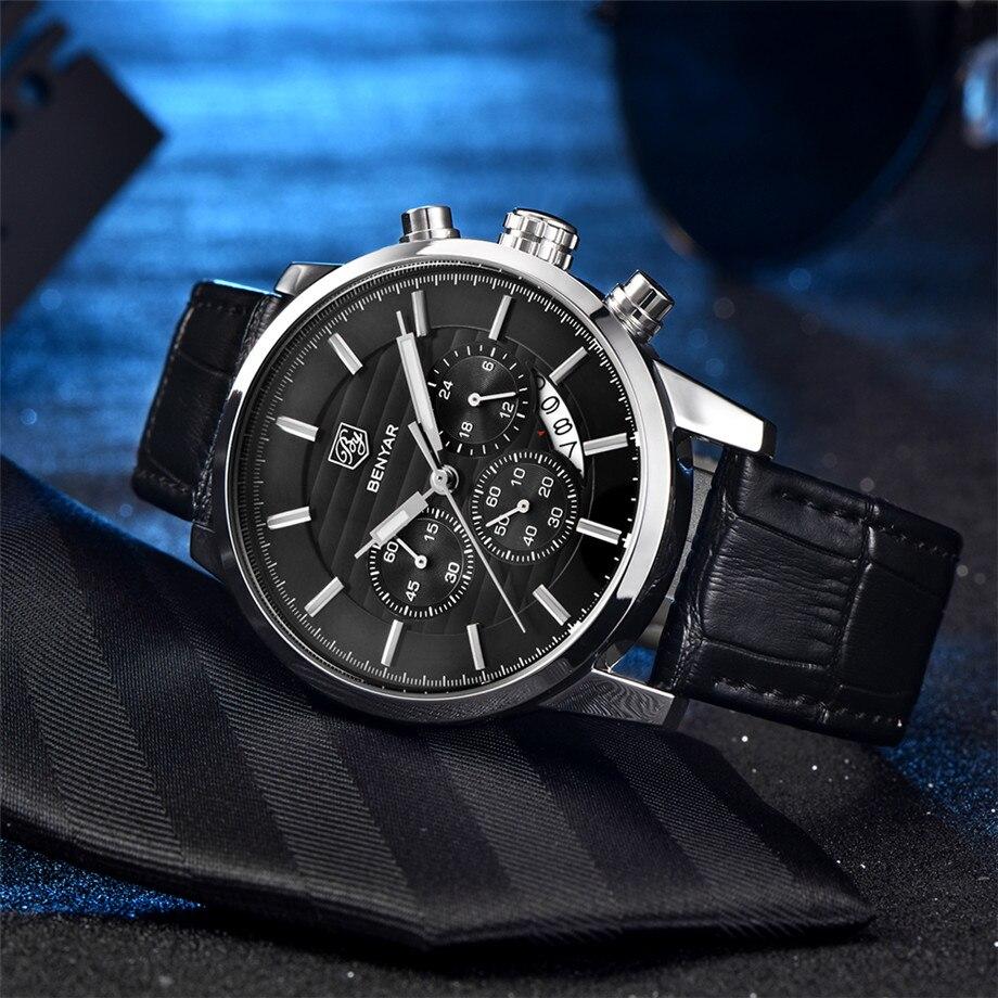 BENYAR Watch Men Waterproof Chronograph Business Dress Mans Watches Date Quartz Wristwatches Male Hour relogio masculino 2017 (4)