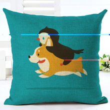 Penguins Printed Cotton Linen Pillowcase Decorative Pillows Cushion Cover Use For Home Sofa Car Office Almofadas Cojines