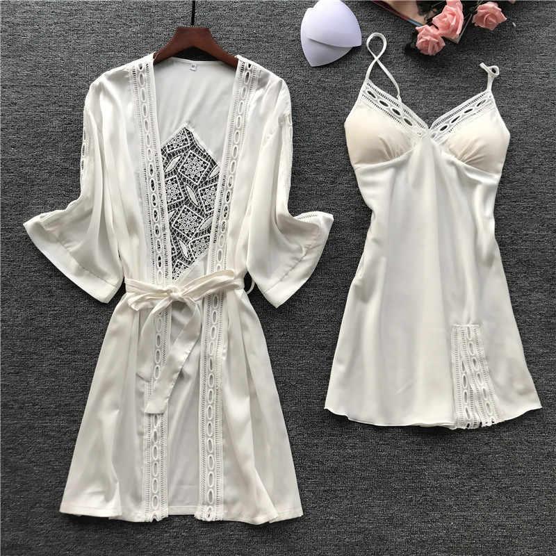 סקסי נשים של פו משי כתונת לילה מלא שמלת שמלת קיץ מקרית כותונות הלבשת רופף כותונת אחת גודל WR031