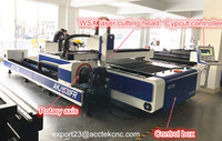High precision 500W 1kw 1500W carbon steel, stainless aluminum metal sheet tube cnc fiber laser cutting machine