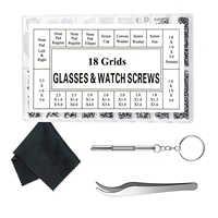 Kit de reparação óculos óculos óculos de sol kit de reparação parafusos com 12 pares nariz almofada chave de fenda pinças de limpeza de vidro c