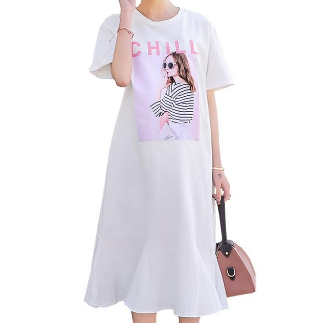 f10765d4accc Maternity Wear Summer Fashion Prints Maternity Dresses Ruffles Elegant Long Dresses  Pregnant Dresses vestidos embarazada