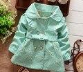 BibiCola Children Outerwear Spring autumn Babi Girls trench Jackets coat Coats Baby Girls clothing sets kids clothes Retail 1 Pc