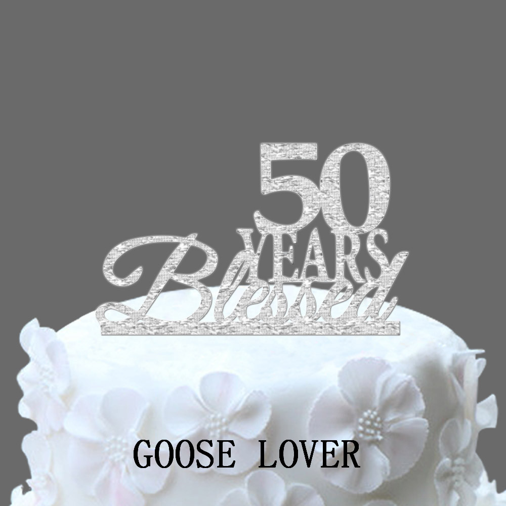 50th Birthday Cake Topper 50 Anos Abenoados Custom Quinquagsimo