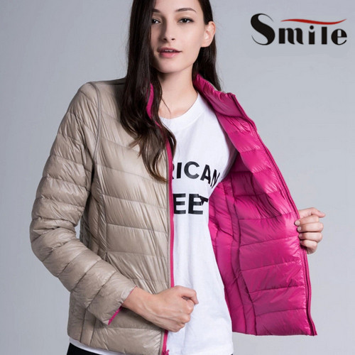 Women Double Faced Jacket Womens Reversible Ultra Light Weight ...