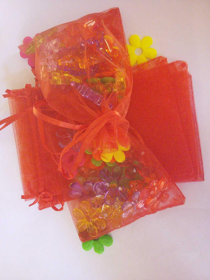 5000 قطعة حقيبة من الأورجانزا 13x18 سنتيمتر حقيبة صغيرة برباط الزفاف/عيد ميلاد/هدية الكريسماس أكياس للمجوهرات التعبئة والتغليف عرض تخزين حقائب حقيبة