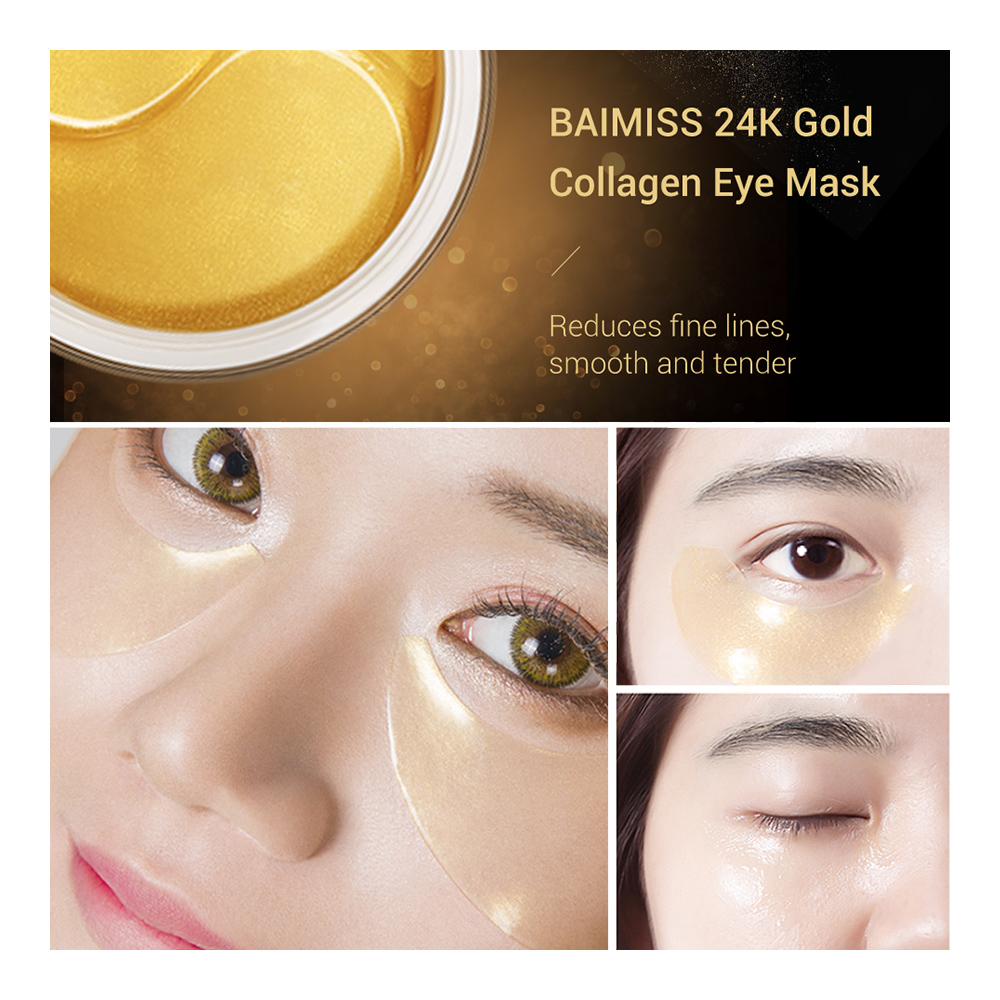 Health & Beauty 60pcs Collagen 24k Gold Under Eye Gel Pad Mask Anti-aging Wrinkle Face Patches Attractive Appearance Health & Beauty
