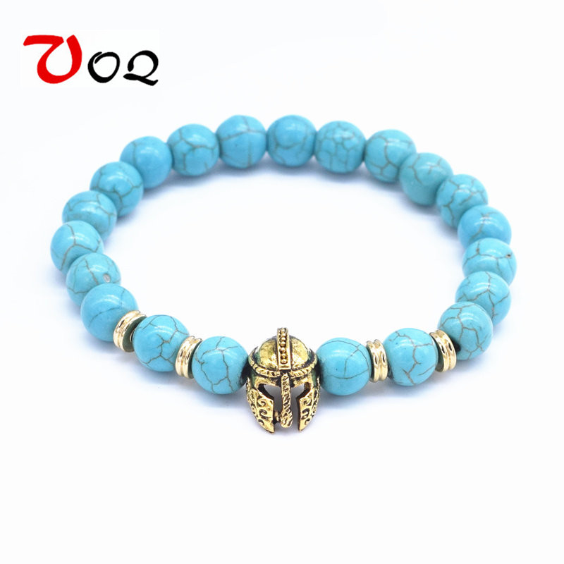 The Best Magic Fish Roman Gladiator Helmet Hole Beads For Making Fashion Men Bracelets&bangles 16mm Inlaid Blue Zircon Beads Accessories Jewelry & Accessories Beads