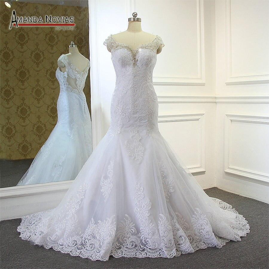Image 4 - Кружевное свадебное платье русалки, 2019wedding dress 2017wedding dress lacedress wedding lace  АлиЭкспресс