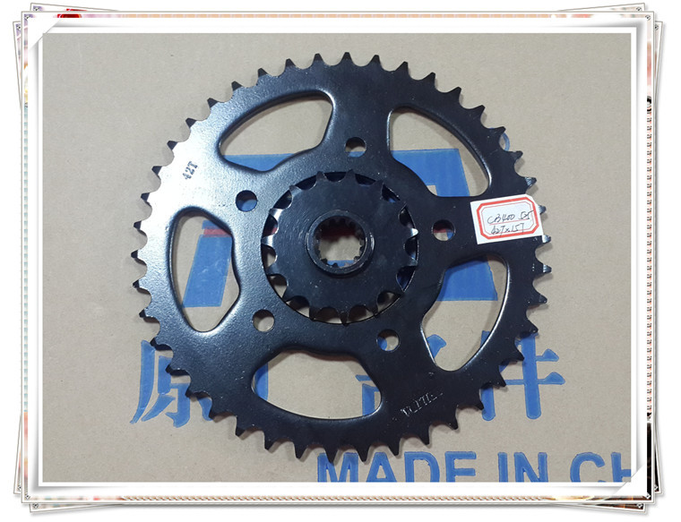Motorcycle sprocket wheel and chain CB400 92-98 CB400 one two three generation 42T -15T tooth size 525 paulmann 92525