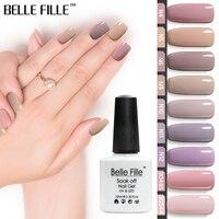 BELLE FILLE Nude Series Colors UV Gel Nail Polish 10ml Beige Soak Off Polish Lacquer Nail Art Manicure Vernis Semi Permanent