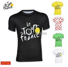 Путешествие де франция мужчины в мужчины езда на велосипеде джерси спорт велосипед велосипед одежда / кофта короткий рукав t рубашка езда на велосипеде рубашка быстрая сушка
