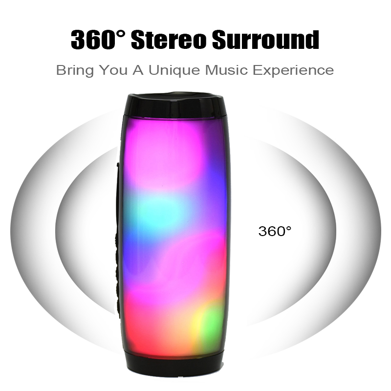 Image 2 - Portable LED Bluetooth Speaker Waterproof fm radio Wireless boombox Mini Column subwoofer sound Box mp3 USB phone Computer bass-in Portable Speakers from Consumer Electronics