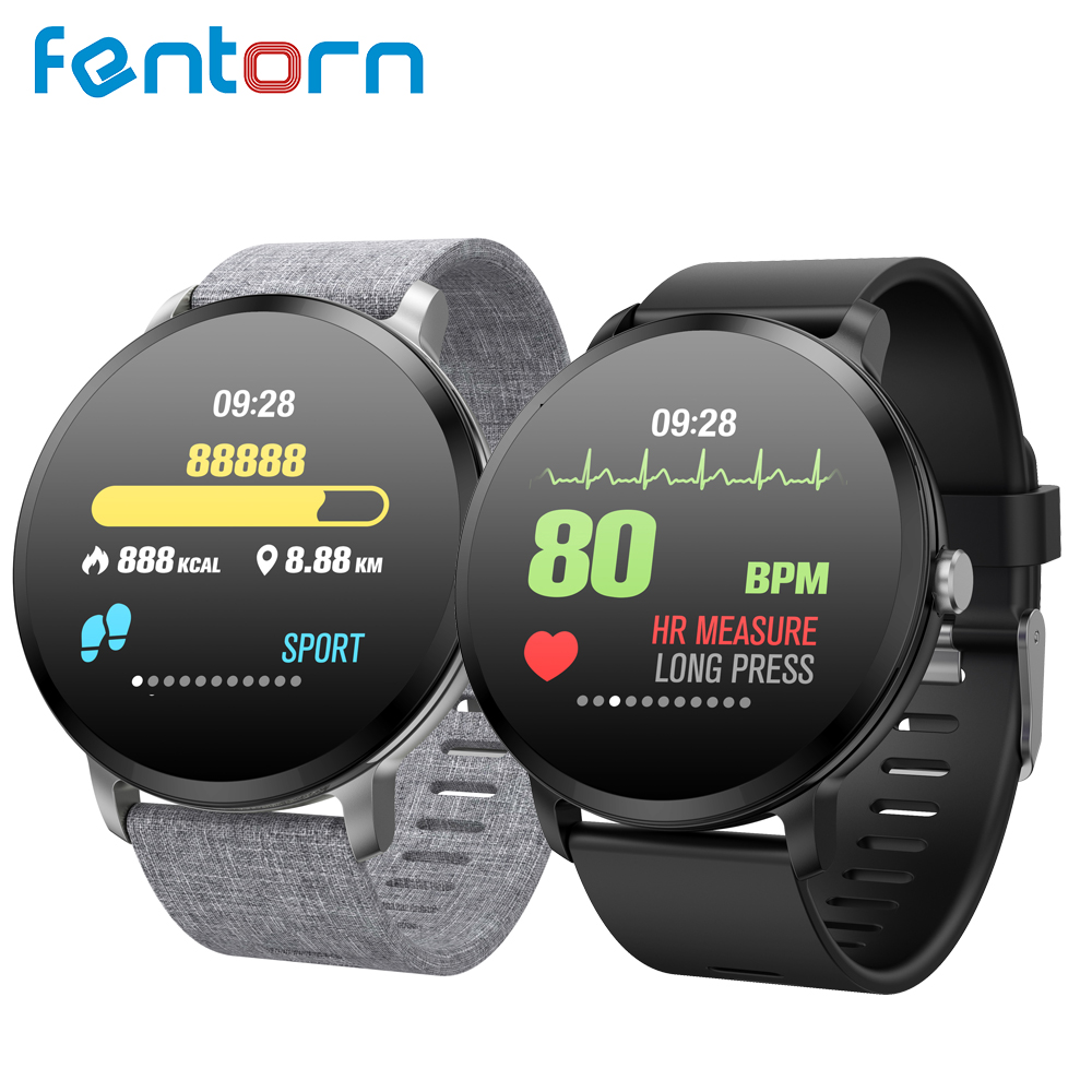 Fentorn V11 Smart watch IP67 waterproof Tempered glass Activity Fitness tracker Heart rate Blood Pressure Men women smartwatch